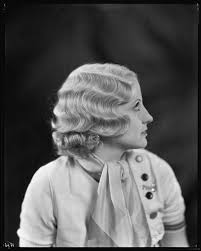 RKO Featured Player Polly Walters modeling a permanent wave hairstyle from  Weaver Jackson's Hollywood Beauty Salon, 1932 — Calisphere