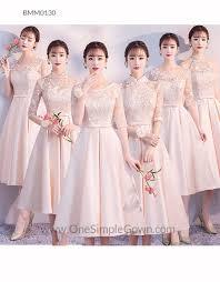 6 designs embroidery satin bridesmaid