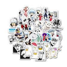 50pcs Japan Anime Gintama Cartoon Stickers For Case Laptop Motorcycle Skateboard Luggage Children Toy Decal Sticker