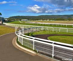 Green Grass And White Fences Of A Country Australian Grass Horse Race Track Buy This Stock Photo And Explore Similar Images At Adobe Stock Adobe Stock