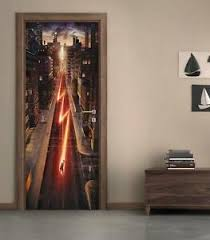 The Flash Door Wrap Decal Sticker Wall Mural Personalized Any Name Marvel D67 Ebay