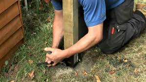 How To Install Fence Posts Using Metal Post Holders Or Metposts Diy Doctor