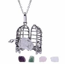 bird cage pendant necklace locket