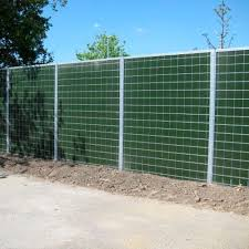 Noise Barrier With Modular Panels Ha Heras Metal Hdpe Mineral Wool