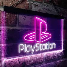 Zusme Playstation Game Room Kid Novelty Led Neon Sign White