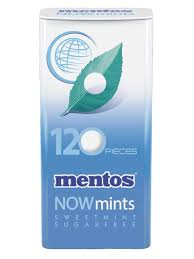 mentos now mints sweet mint 60g candy