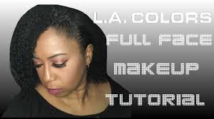 l a colors full face makeup tutorial