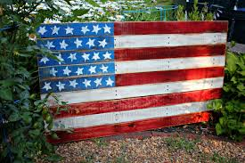 American Wood Flag Recycled Fence Panel Sign Lynchpin Design Company