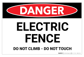 Danger Electric Fence Wall Sign Creative Safety Supply