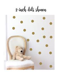 Polka Dot Wall Decal For Nursery Gold Dot Decals Gold Dot Stickers Polka Dot Peel And Stick Vinyl Decal Sets Wine Glass Decal