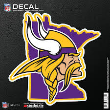 Minnesota Vikings 6 X 6 Repositionable State Shape Decal