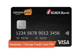 amazon pay icici credit card pin