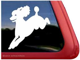 Add Text Jumping Poodle Decal Dc820pl High Quality Etsy