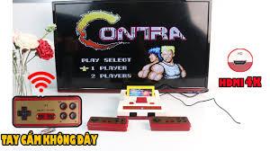 Máy chơi game 4 nút HDMI không dây - 588 game huyền thoại contra, mario,  streetfighter, jackal... - YouTube