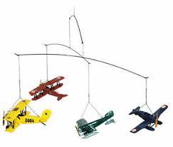 Airplane Flight Mobile 1920 Biplane Seaplane Hanging Aviation Decor Ebay