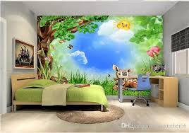 Custom Photo Wallpaper Roll Cartoon Forest Animals Childrens Room Mural Backdrop 3d Wallpapers Kids Stickers Wall Murals Wallpaper Widescreen Wallpapers Widescreen Wallpapers Hd From Tongxunbei66 17 61 Dhgate Com