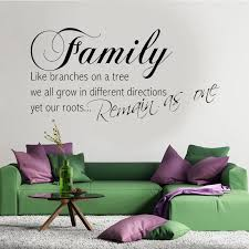 Family Quotes Wall Decal Roots Life Branches Quote Wall Art Vinyl Sticker Decorative Adesivo De Parede 3q16 Wall Stickers Aliexpress
