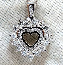 1 20ct natural diamonds heart pendant