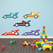 Childrens Racing Cars Wall Stickers Vehicle Wall Decals Boys Etsy Kids Wall Decals Wall Stickers Cars Boys Wall Stickers