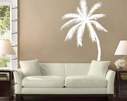 Palm Tree Wall Decal Etsy