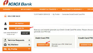 generate icici bank atm pin