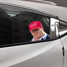 Amazon Com Pleasay Trump Car Window Stickers Donald Trump Car Sticker Waterproof Pvc Auto Window Decal Easy Removal Leaves No Residue Reflective Funny Stickers Vehicles Accessories 12x10inch Home Kitchen