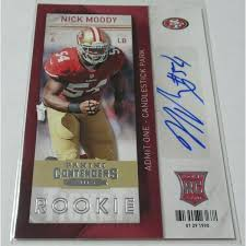2013 Panini Playoff Contenders Nick Moody Auto Signature Rookie Rc ...