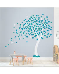New Savings On Cherry Blossom Tree Wall Decal Zoomie Kids Color White Teal Turquoise