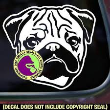 Pug Dog Vinyl Decal Sticker Gorilla Decals