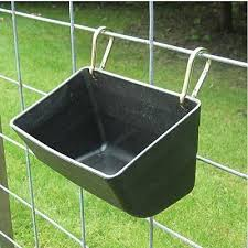 Fence Feeder With Clips Goat Feeder Goat Care Goat Shelter