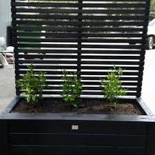 planter box with trellis fence