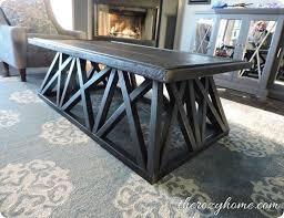 diy trestle coffee table