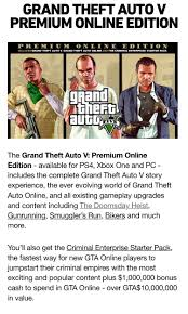 PSA: Grand Theft Auto V Premium Online Edition : gtaonline
