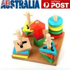toddler kids baby montessori toys wood