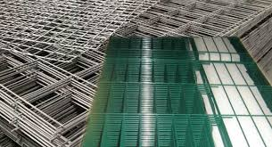 Framed Welded Mesh Fence Panels With Security Razor Wire