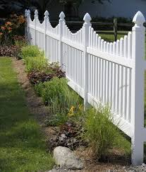 1000 Ideas About Vinyl Picket Fence On Pinterest Post And Rail Fence Landscaping White Picket Fence Fence Design