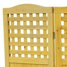 Leisure Season Lattice Privacy Screen Enclosure 4 Wooden Fencing Panels Folding Outdoor Patio