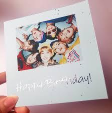 Bts Happy Birthday Foil Customizable Card Rose Gold Pink Bangtan