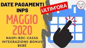Calendario Pagamenti MAGGIO: NASPI REDDITO DI CITTADINANZA CASSA  INTEGRAZIONE BONUS BEBÈ [2020] - YouTube
