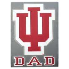 Indiana Hoosiers Color Shock Iu Dad Car Decal Indiana Hoosiers Hoosiers Logo Wall