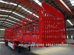 3 Axle 60 Ton Horse Trailer Stake Fence Truck Semi Trailer Manufacturers China For Sale Sinotruk