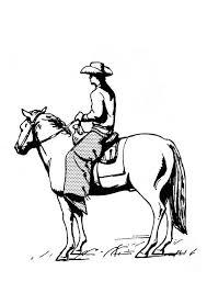 Kleurplaat Cowboy Op Paard Gratis Kleurplaten Om Te Printen