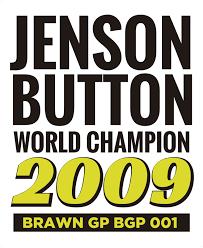 Jenson Button World Champion Car Sticker Tenstickers