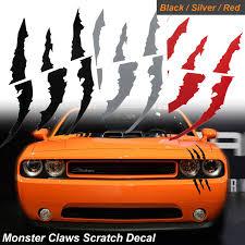 1x Die Cut Monster Claws Scratch Headlight Decal Vinyl Sticker Halloween Decor Universal Fit Black Walmart Com Walmart Com