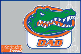 Florida Gators Dad W Gator Head 1 Vinyl Decal Uf Sticker Car Truck Window Ebay