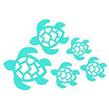 Amazon Com Turtle Family Decal Turtles Swimming Decal Car Truck Wall Laptop Windows Suv 7 X 4 8 In Light Blue Kcd221lbl Automotive