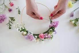 diy flower crown bar glitter guide