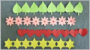 Easy Decorative Paper Chain Ideas Diy Paper Cutting Decorations Bulletin Board Borders Youtube