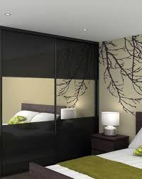 black glass doors with mirror