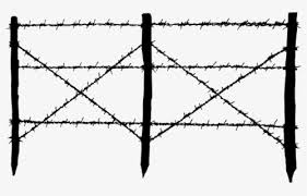 Drawn Fence Transparent Wire Barbed Wire Fence Png Free Transparent Clipart Clipartkey